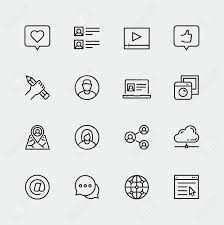 writing profile stock photos images royalty writing profile writing profile social media communication and personal profile vector icon set in thin line