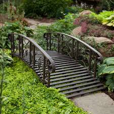 garden bridges. Interesting Bridges 6Ft Metal Garden Bridge In Weathered Black Finish Throughout Bridges T