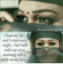 I Hate My Life Quotes Custom O Insta Girly Quotes 48 Hate My Life And 48 Cried Every Night But 48