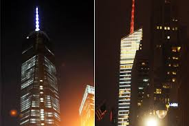 Bloomberg Building Lights Citys Towers In Led Arms Race To Get Brightest Spot In Skyline