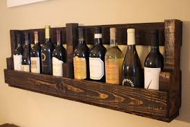 wooden wine racks wall mounted with 2 sides for 10 bottles