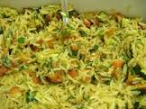 basmati rice pilaf with zucchini  roasted red peppers   par