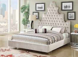 tufted bed. Leland Classic Bed Crystal Tufted Headboard