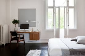 Bedroom:20 Minimal Home Office Design Ideas Inspirationfeed With Minimalist  Bedroom Office With Regard To