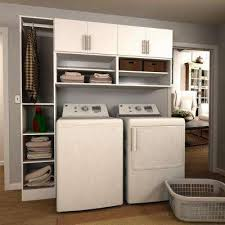 cabinets in laundry room. horizon 75 in. w white open shelves laundry cabinet kit cabinets in room
