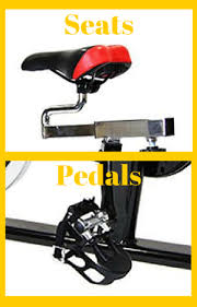 change spin bike seats and pedals
