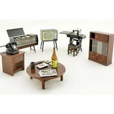 Vintage Japanese Japan w Magnet 125 Dollhouse Furniture Set