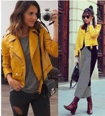 zara mustard yellow pu faux leather zip up biker jacket bloggers fave 3046 023