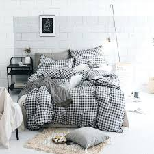 black white and gray bed sheets grey sets bedding plaid duvet cover set cotton home improvement awesome g