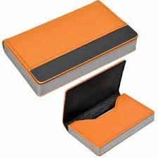 "Визитница ""Горизонталь""; оранжевый; 10х6,5х1,7 см; иск. кожа ..."