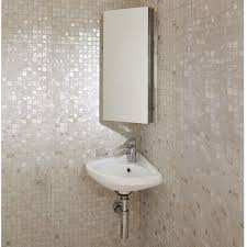 Corner Mirrored Cabinet 670 x 300mm