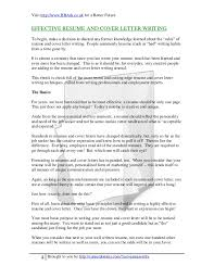 Do You Need A Cover Letter With A Resume Best of Writing An Effective Cover Letter Vs Resume