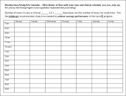 Free College Schedule Class Schedule Template College Printable Schedule Template