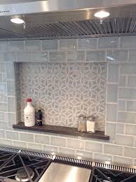 blue kitchen backsplash dark cabinets. Julep Tile Company, Bloom Pattern And Subway Field In Sky Blue Crackle Thanks Kitchen Backsplash Dark Cabinets