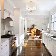 white galley kitchens. Example Of A Classic Galley Medium Tone Wood Floor Eat-in Kitchen Design In  New White Kitchens Houzz