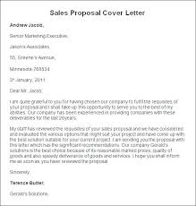 Rfp Proposal Cover Letter Cover Letter Examples Cover Letter