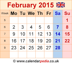 february 2015. Plain February Calendar February 2015 Template 6 Graphicimage File In PNG Format For A