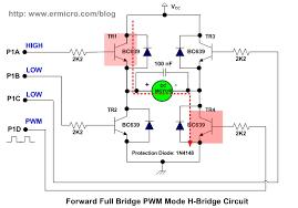 h bridge microchip pic microcontroller pwm motor controller on the forward