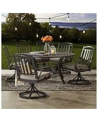 round outdoor dining sets. Members Mark Harbor Hill 7pc Round, Cushioned Dining Set Round Outdoor Dining Sets