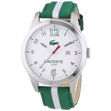 new lacoste men s auckland green and white nylon strap watch 2010721 brand new lacoste men s auckland green and white nylon strap watch 2010721