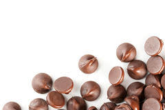 chocolate candy borders. Exellent Borders Chocolate Chips Isolate On White Border Royalty Free Stock Images On Candy Borders C