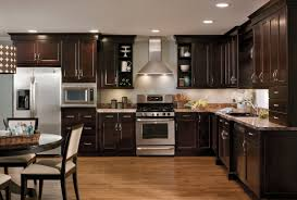 Espresso Kitchen Cabinets with Backsplash Ideas