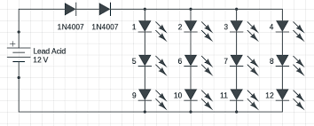 1w to 5w led driver circuit with 12v input circuits diy led circuit diagram 12v at Led Wiring Diagram 12v