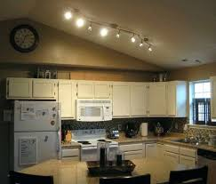 ceiling track lights surprising kitchen track lights ideas in sloping ceiling with wall clock also white
