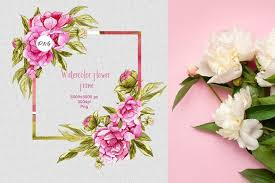 Here you can explore hq watercolor flower transparent illustrations, icons and clipart with filter setting like size, type, color etc. Watercolor Flower Frame Png 1001027 Illustrations Design Bundles In 2020 Flower Frame Png Flower Frame Watercolor Flowers