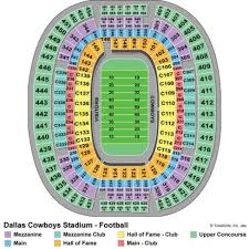 Dallas Cowboys Stadium Concert Seating Chart Cowboy Stadium Concert Seating Chart Dallas At T Stadium