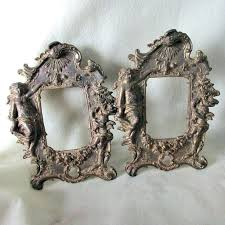 Antique mirror frame Circular Antique Mirror Frame Pair Picture Frames With Ladies Cherub Angels Vintage Large Fra Getyourjobinfo Antique Mirror Frame Pair Picture Frames With Ladies Cherub Angels