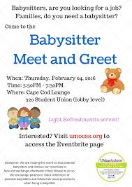 calendar of events we encourage parents to check references of potential babysitters and follow their usual procedures when hiring a babysitter