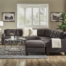 Elston Dark Grey Linen L-Shape Sectionals by iNSPIRE Q Modern - Free  Shipping Today - Overstock.com - 25617625