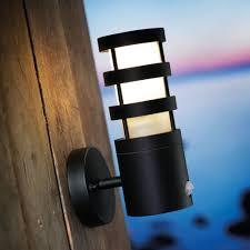 outdoor lighting uk pir. darwin pir outdoor light (black) lighting uk pir
