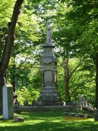 tallest monument in north oak grove cemetery and it really is impressive