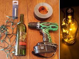 diy christmas lighting. Unique Lighting Winebottlediybeforeandafter Inside Diy Christmas Lighting