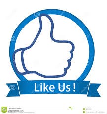 Like Us On Facebook Vector Facebook Like Facebook Follow Us Buttons Stock Vector