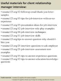Sample Cover Letter For Client Relationship Manager Cover Letter Samples Bank Relationship Manager Resume Pdf