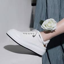 <b>INDACO 2019 Women Sneakers</b> Leather White Shoes Woman ...