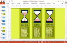 Animated Hour Glass Time Tracker Powerpoint Template