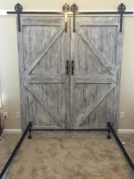 Faux Barn Door Headboard Bed Frame Hardware Bed Furniture Decoration