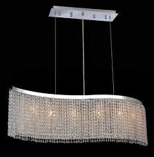 swarovski crystal lighting. Perfect Lighting Krane Series 6 Light Chrome 46 Wave Pendant Chandelier With Swarovski  Crystal Lighting M