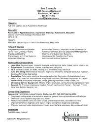 Service Tech Resume Automotive Technician Resume Sample Bezholesterol