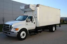 FORD F650 REFRIGERATED BOX TRUCK 20FT BOX THERMOKING SIDE DOOR AUTO ...