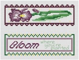 Printable Iris Bookmark Pattern