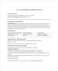 Pharmacist Assistant Resumes Sample Pharmacy Technician Resume 7 Examples In Word Pdf