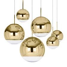 Tom Dixon Mirror Ball Pendant Light Mirror Ball Pendant Suspension Lamp Gold