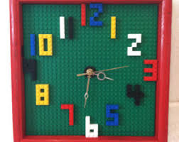 lego furniture for kids rooms. Unique Kids Wall Clock - Building Blocks Playroom Decor Nursery Room Lego Furniture For Rooms