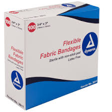 "1' X 3"" <b>Flexible Fabric Adhesive Bandages</b> - RescueAED"