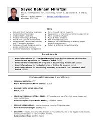 Cv Template Marketing Manager Copy